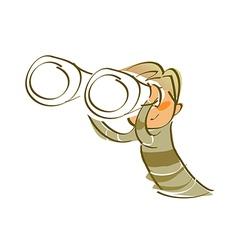 Icon telescope vector