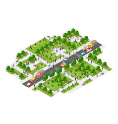 isometric people walking lifestyle socializing in vector image