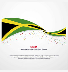 Jamaica happy independence day background vector
