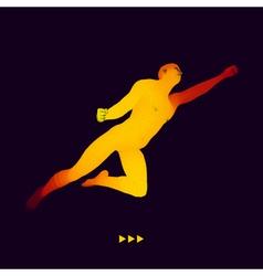 Jump Man 3D Model of Man Business Science Sport vector