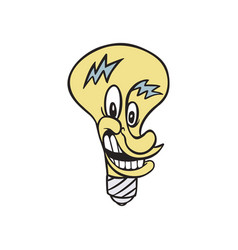 lamp electrical cartoon vector image