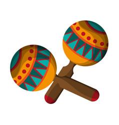 Maracas latin instrument isolated vector