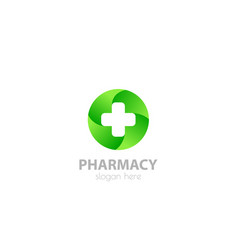 medical cross logo pharmacy vector image