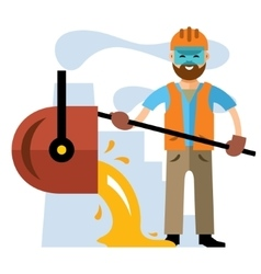 Metallurgical industry Flat style colorful vector