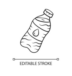 Mineral water linear icon clean potable drinking vector