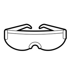 Modern sports glasses icon image vector