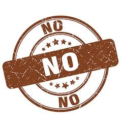 No brown grunge round vintage rubber stamp vector