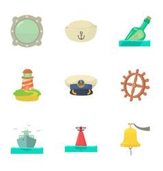 Old salt icons set cartoon style vector