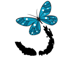 Painted-butterfly vector