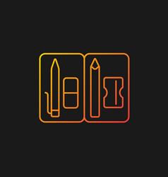 Pencil pouch gradient icon for dark theme vector