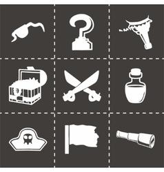 Pirate icon set vector