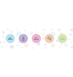 Platter icons vector