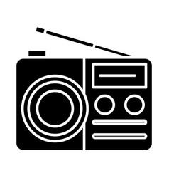 Portable radio reciever icon vector