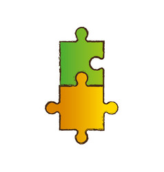 puzzle jigsaw collaboration image vector image