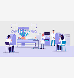 robotic surgery banner with futuristic hospital vector image