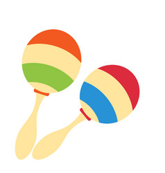 Rumba shakers maracas rattle icon childrens toy vector