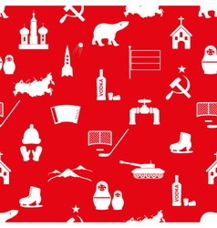 Russia country theme symbols icons seamless vector