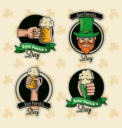 saint patricks days labels vector image
