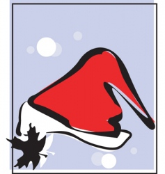 Santa hat background vector