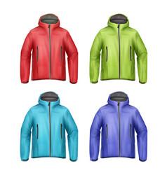 Set of unisex jackets vector