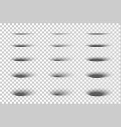 set oval gray shadows with soft edges vector image