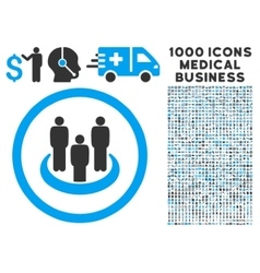 Social Group Rounded Icon With Medical Bonus vector image
