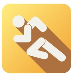 Sport icon with run people in flat style vector