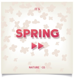 Spring has begun vector image