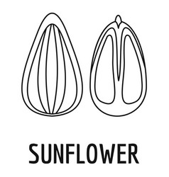 sunflower seed icon outline style vector image