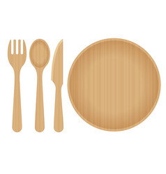Sustainable home goods and eco-friendly dinnerware vector