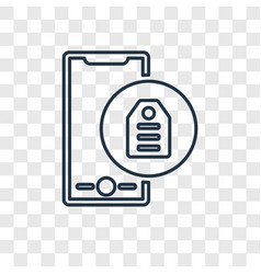 tags concept linear icon isolated on transparent vector image