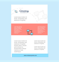 template layout for computer networks comany vector image