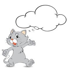 Thinking cat vector image