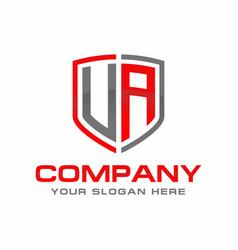Ua initial logo design vector