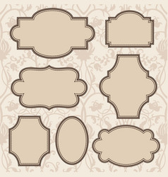 vintage frames set with text place vector image