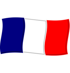 Waving french flag graphic vector