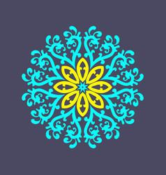 White round ornament vector