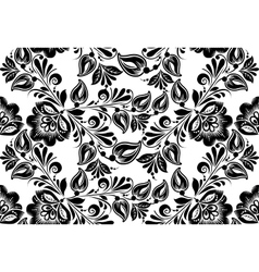 Floral background russian traditional ornament vector