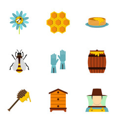 healthy food production icons set flat style vector image vector image