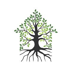 Natural Eco House Logo vector image