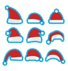 Santa Claus Christmas hat vector image