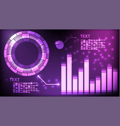 abstract interface digital technology purple vector image