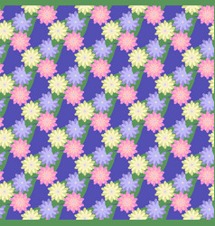 flower and leaf seamless pattern vector image vector image