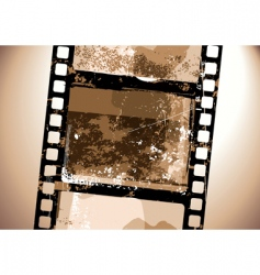grunge film pattern vector image vector image
