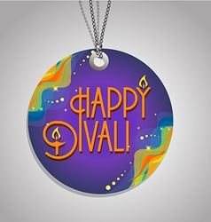 Happy Diwali label vector image vector image