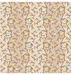 pattern floral dots vector image vector image