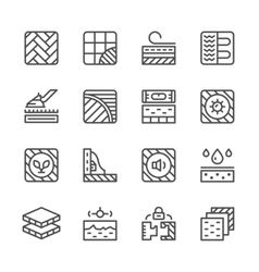 Set line icons of floor vector image