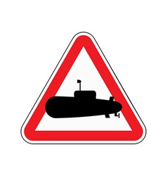 Sign of attention submarine Red triangle with vector image vector image