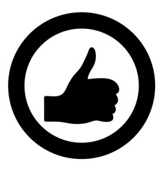 symbol good the black color icon in circle or vector image