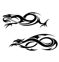 Tribal dragons vector image